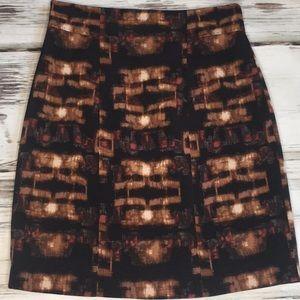 Elie Tahari Nordstrom Pencil Skirt Brown Black 6